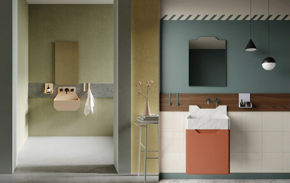 bagni design colorati