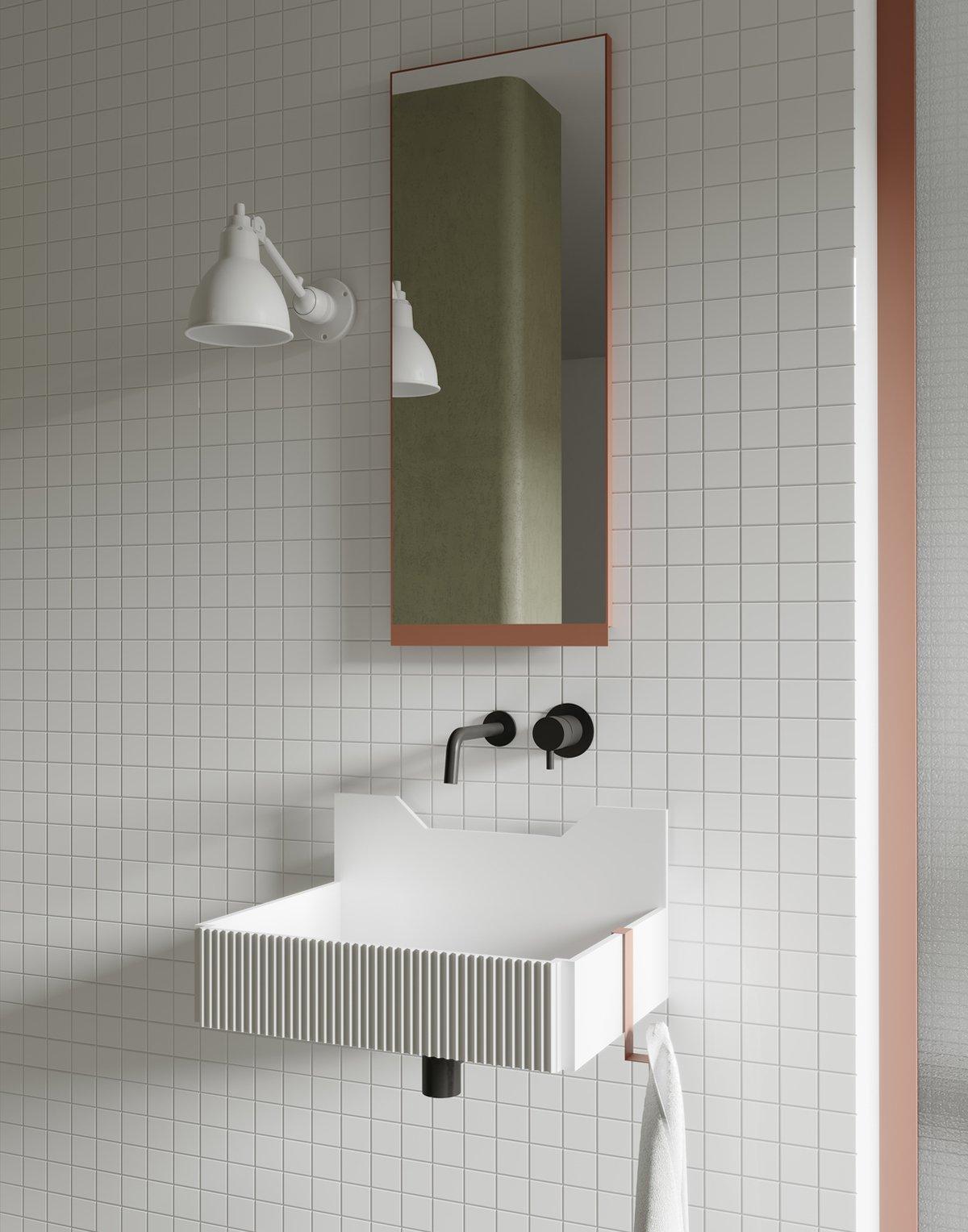 lavabo bianco opaco