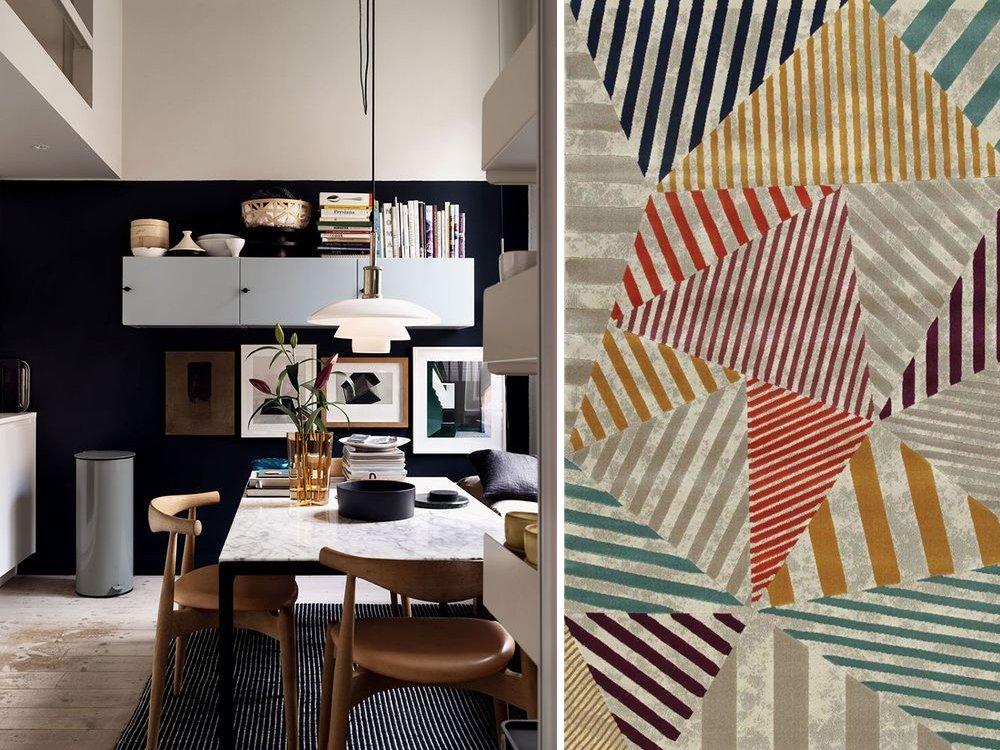tappeto colorato geometrico