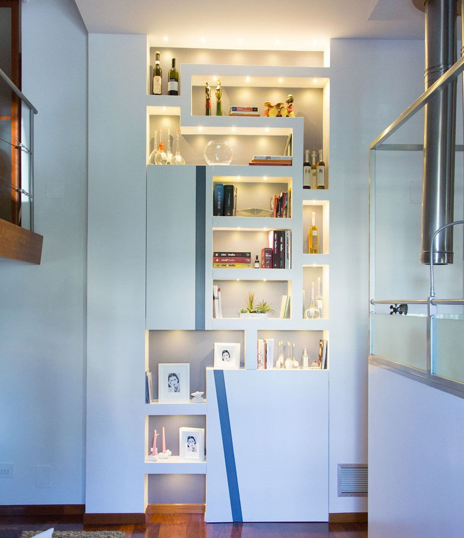 Ante Per Libreria Cartongesso li ving design studio - a casa di ro