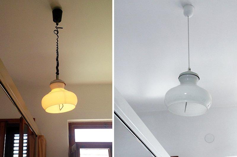 recuperare lampada vintage