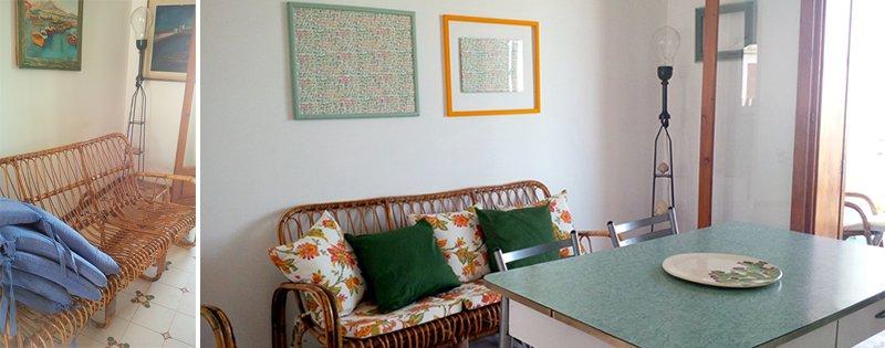 trasformare divano vimini