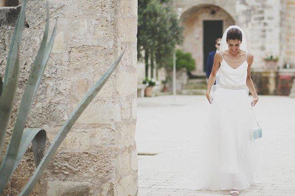 vestito da sposa scivolato semplice