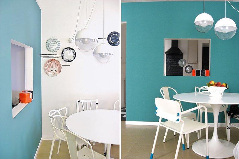 decorare parete con piatti