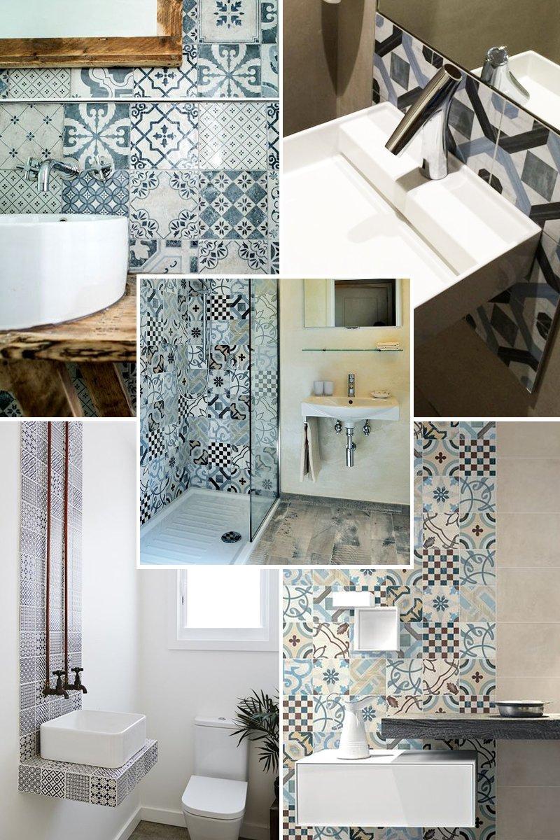 ristrutturare un bagno, tra resina e cementine - A Casa di Ro
