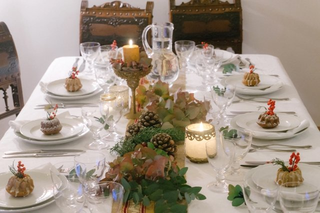 table setting Capodanno