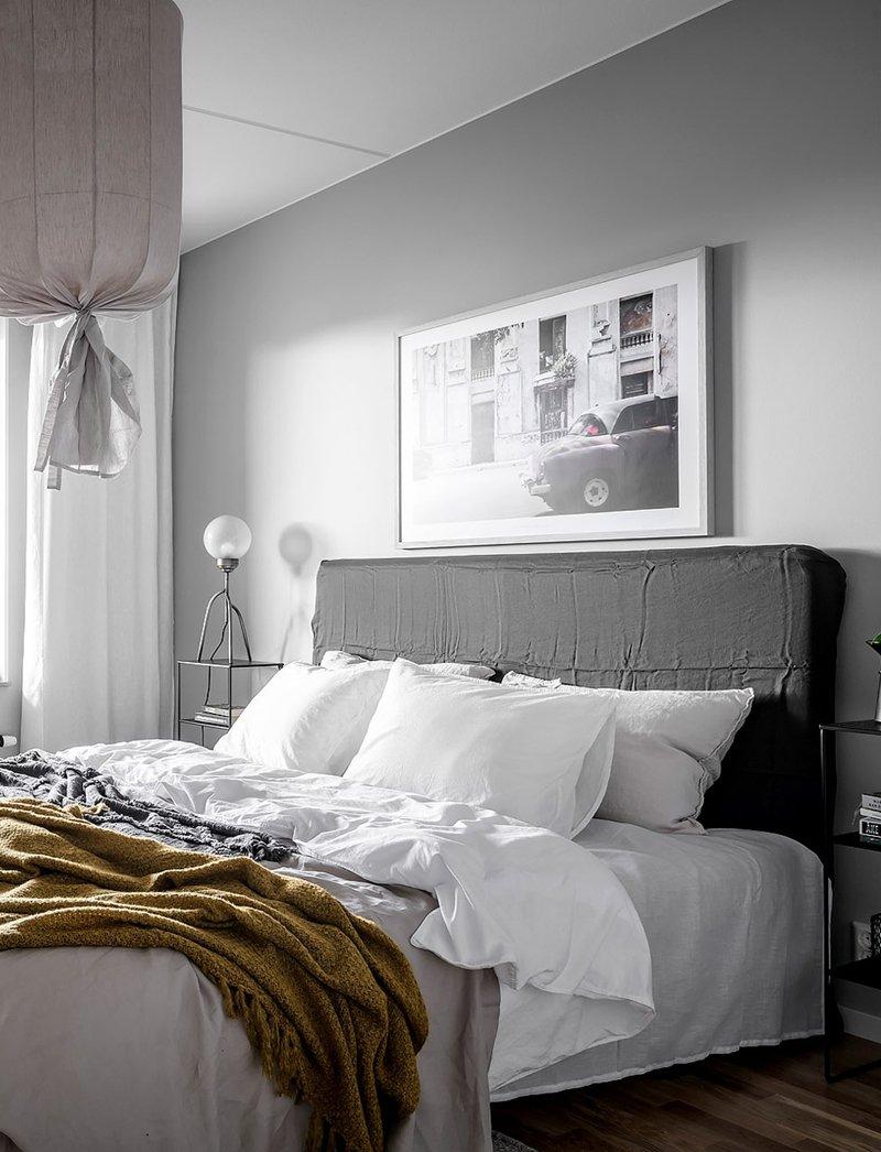 Camera Da Letto Grigia studio in: design svedese in sfumatura di grigio - a casa di ro