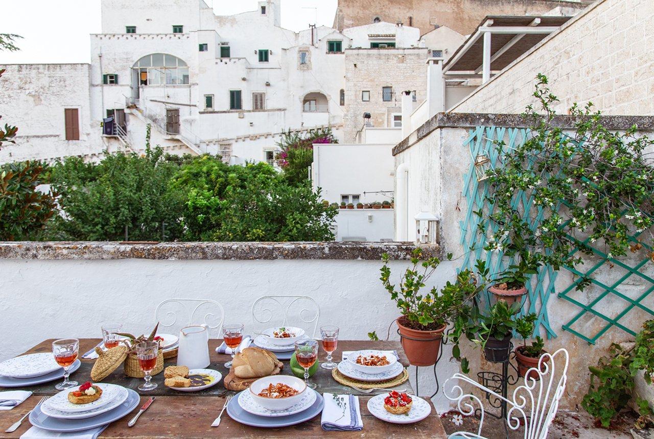 Apparecchiare Tavola In Terrazza cena d'estate in pugliaa tavola con mest - a casa di ro