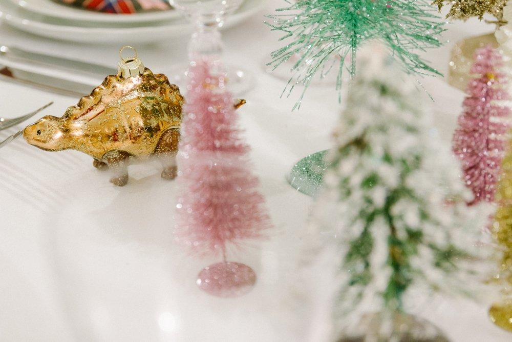 table setting Natale